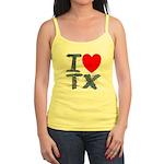 I Love TX Jr. Spaghetti Tank