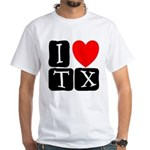 I Love TX White T-Shirt