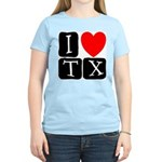 I Love TX Women's Pink T-Shirt