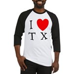 I Love TX Baseball Jersey