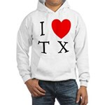 I Love TX Hooded Sweatshirt