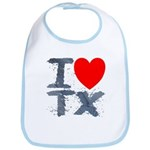I Love TX Bib