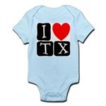 I Love TX Infant Bodysuit