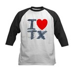 I Love TX Kids Baseball Jersey