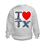I Love TX Kids Sweatshirt