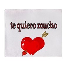 te quiero mucho-I love you very much Throw Blanket