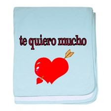 te quiero mucho-I love you very much baby blanket