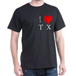 I Love TX Dark T-Shirt