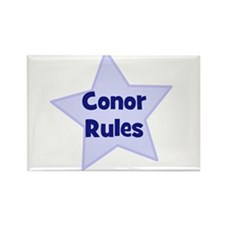 Conor Rules Rectangle Magnet