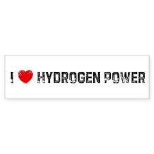 I * Hydrogen Power Bumper Bumper Sticker