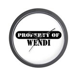 Property of Wendi Wall Clock
