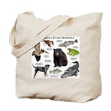 Louisiana State Animals Tote Bag