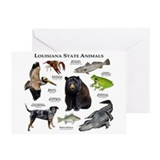 Louisiana State Animals Greeting Card