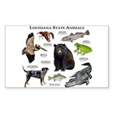 Louisiana State Animals Decal