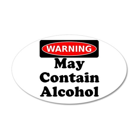 May Contain Alcohol Warning Wall Decal