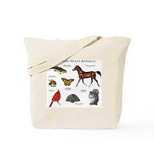 Kentucky State Animals Tote Bag