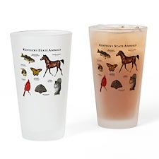 Kentucky State Animals Drinking Glass