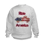 Flag-painted motorcycle-RIDE-1 Sweatshirt