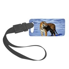 BENGAL TIGER IN SURF Luggage Tag