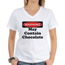 Warning May Contain Chocolate T-Shirt