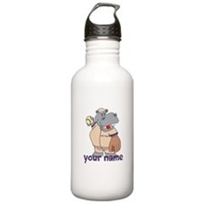 Personalized Softball Hippo Water Bottle
