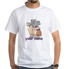Personalized Softball Hippo Shirt