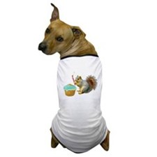 Squirrel Candle Cupcake Dog T-Shirt