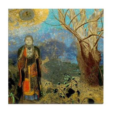 The Buddah by Redon Ceramic Art Tile Coaster