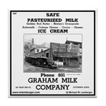 Graham Milk Company Tile Coaster