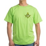 The Master Masons Square and Compasses Green T-Sh