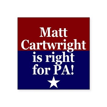 Matt Cartwright is Right! (Pro-Cartwright Bumper Sticker)