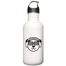 music_panda_head Water Bottle