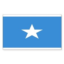 Somalia Somali Blank Flag Rectangle Decal