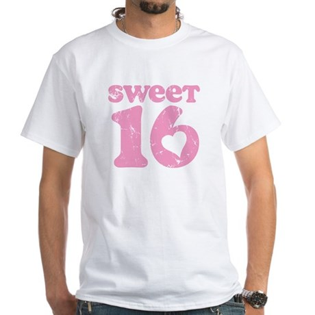 Retro Sweet 16 Birthday White T-Shirt