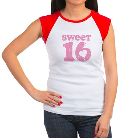 Retro Sweet 16 Birthday Women's Cap Sleeve T-Shirt