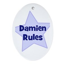 Damien Rules Oval Ornament