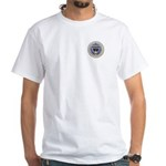 Seal of the Geek White T-Shirt (side)