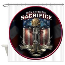 01026 HONOR THEIR SACRIFICE Shower Curtain