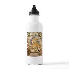Mucha La Plume Art Nouveau Water Bottle