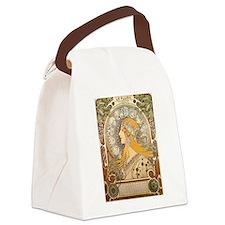 Mucha La Plume Art Nouveau Canvas Lunch Bag