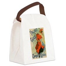 Paris Cabaret Lady in Red Poster Canvas Lunch Bag