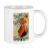 Paris Cabaret Lady in Red Poster Mug