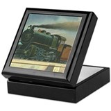 Antique Train Steam Engine Locomotive Vintage Tile