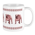 Red Bulldog Mug With Red Border