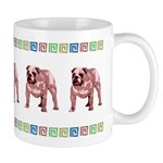 Red Bulldog Mug With Border
