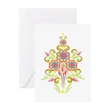 Formal Tole Flowers Greeting Card