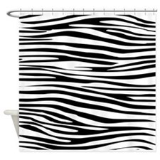Zebra Pattern Shower Curtain
