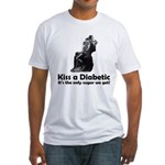 Kiss a Diabetic Fitted T-Shirt