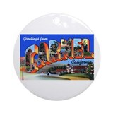 Carmel California Greetings Ornament (Round)