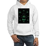 Boo! Spiders Creepy Green Hooded Sweatshirt